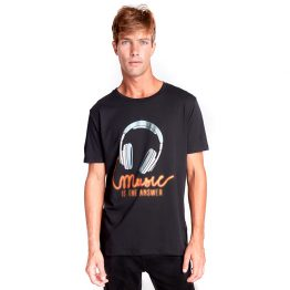 Camiseta hombre Music is the answer