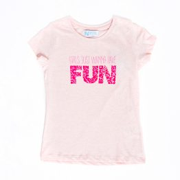 Camiseta niña Girls just wanna have fun